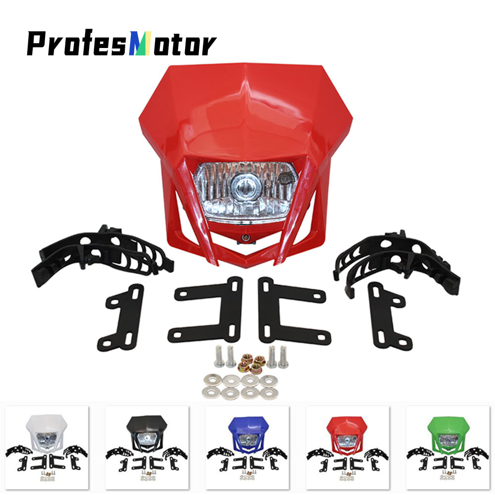Universal Motorcycle Headlight Headlamp Fairing Farol De Milha Para Moto For HONDA XR CRF 150 230 250 450 Dirt Bike