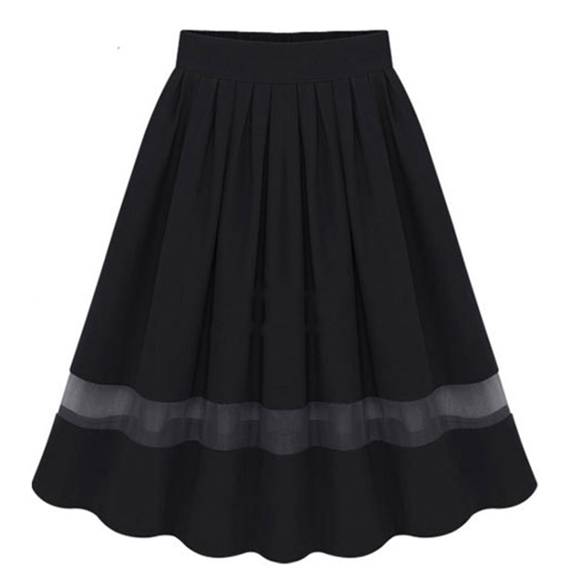 Waist Skirts Spring Color Casual Style Women Solid 2020 High Plus White Summer Hot Maxi Size Female Loose Black Confortabl