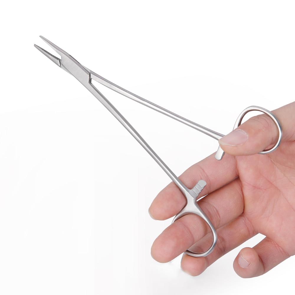 1 Pc Dental Needle Holder Pliers Stainless Steel  Forceps Orthodontic Tweezer Dentist Instrument Equipment