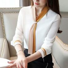 Высококачественные свободные женские топы и блузки, винтажные Шифоновые Топы с длинным рукавом, Blusas Mujer De Moda, элегантная весенняя одежда
