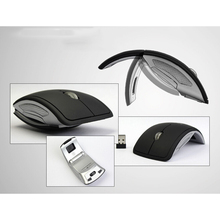 2.4G Wireless Mouse Foldable Computer Mouse Mini Travel Notebook Mute Mouse USB Receiver