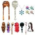 Парик для косплея LUCKKIDS для девочек, Эльза и Анна, снежные белоснежные спутанные волосы, плетеные волосы, для принцесс, подарок на день рожден...
