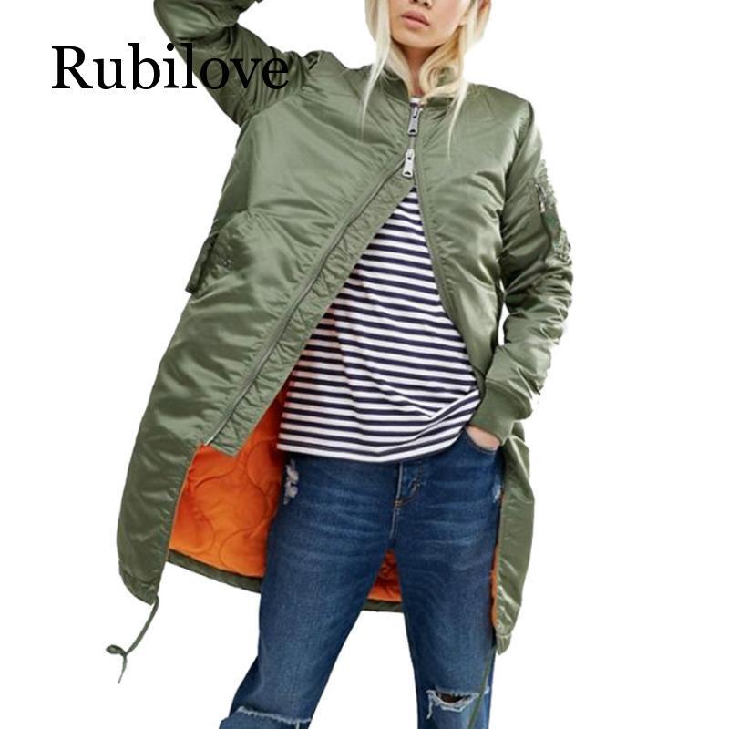 Winter long coats and   jackets   women female coat casual military black green bomber   jacket   women   basic     jackets   plus size