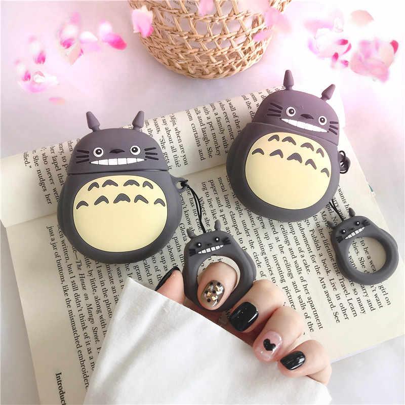 Totoro หูฟังไร้สายบลูทูธสำหรับ Apple Airpods น่ารักซิลิโคนหูฟังสำหรับ Airpods2 ป้องกัน