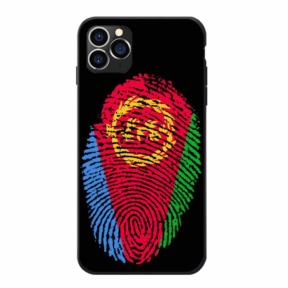 Untuk Samsung A20 50 70 M20 30 S7 S8 S9 S10 Lite Edge Plus Catatan Eritrea Bendera Nasional Lapisan lengan Tema Lembut Tpu Telepon Kasus