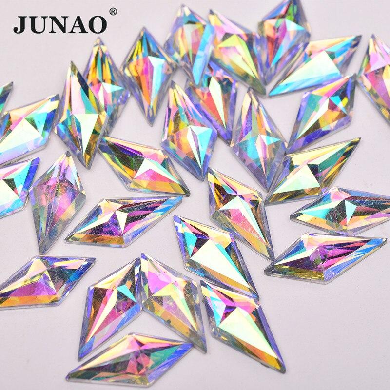 10*22mm Crystals Gems Rhinestones AB Acrylic Flatback Rhombus Strass Jewelry DIY