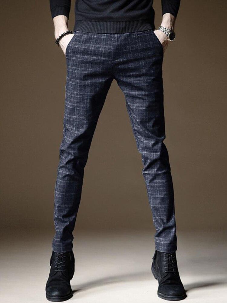 Trousers Pant Business-Pants Linen Autumn Thick Male Straight Plus-Size Cotton Upscale