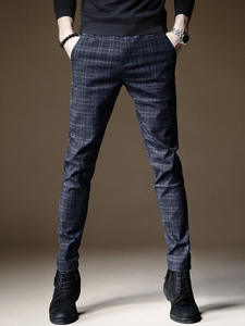 Trousers Pant Business-Pants Linen Autumn Men Cotton 38 Male Straight And Thick Casual