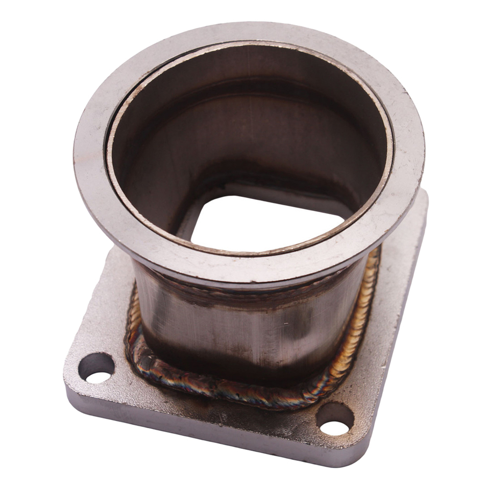 V-Band Adapter 3 inch 76mm Stainless Steel V Band Flange Adapter Adaptor For T4 Turbo
