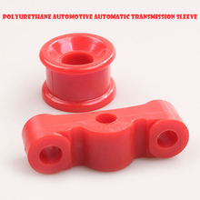 2Pcs red polyurethane automatic transmission bushing suite for Honda Civic 1984-1987 Acura Integra 1994-2001 Del Sol VTEC 93-97