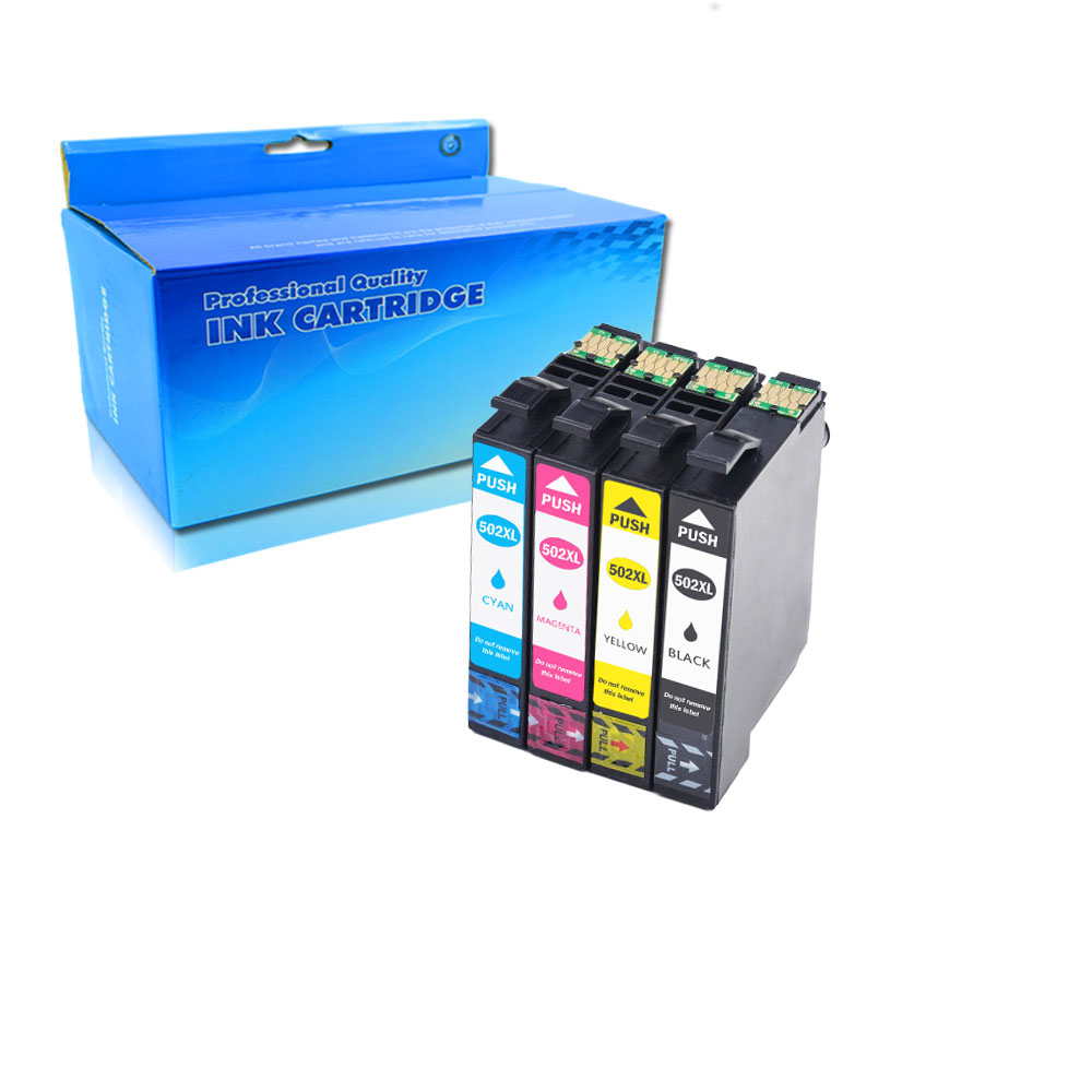 4pack For Epson T502 XL Ink Compatible For Epson Expression Home XP-5105 XP-5100 WorkForce WF-2860DWF WF-2865DWF XP5105 WF-2860