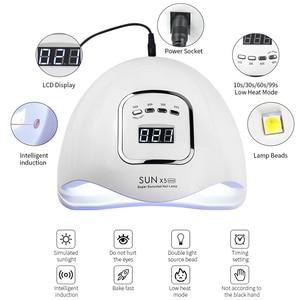 Image 2 - 네일 건조기 SUNX 5 최대 90/72/54/36W 45/36 LED UV LED 네일 램프 자외선 젤 치료를위한 태양 빛 센서 LCD 디스플레이와 매니큐어