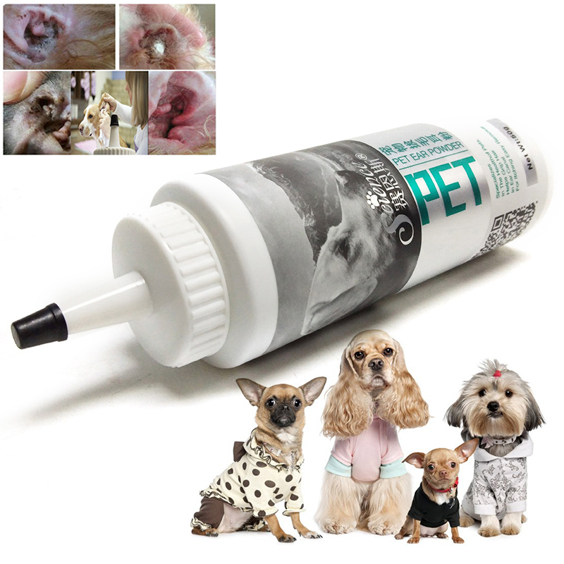 1pcs pet health care ear powder for dogs cats pet ear health care healthy and safe pet product