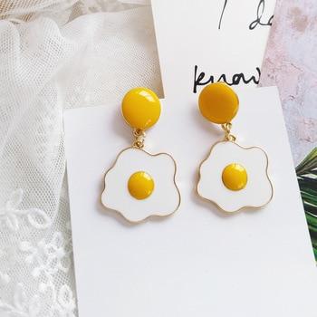 Cute Poached Egg Clip on Earrings Beautiful Funny Daily Non Pierced Earrings.jpg 350x350 - Cute Poached Egg Clip on Earrings Beautiful Funny Daily Non Pierced Earrings