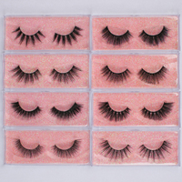 Wholesale 100 Pairs False Eyelash 3D Mink Lash 100% Cruelty Free Lashes Cilios Dramatic Reusable Soft Eyelashes Fake Lash Makeup