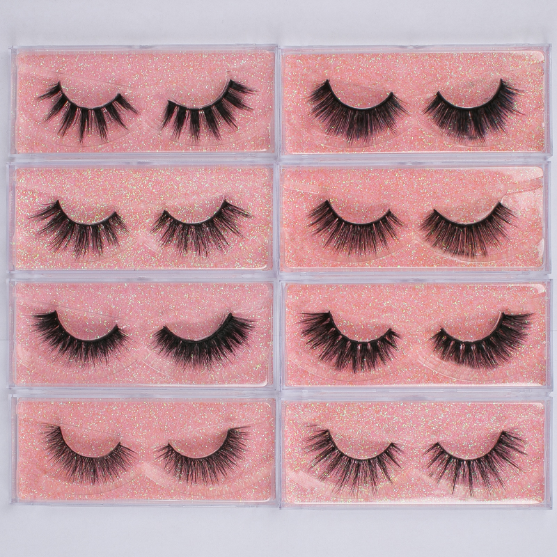 Wholesale 30 Pairs False Eyelash 3D Mink Lash 100% Cruelty Free Lashes Cilios Dramatic Reusable Soft Eyelashes Fake Lash Makeup