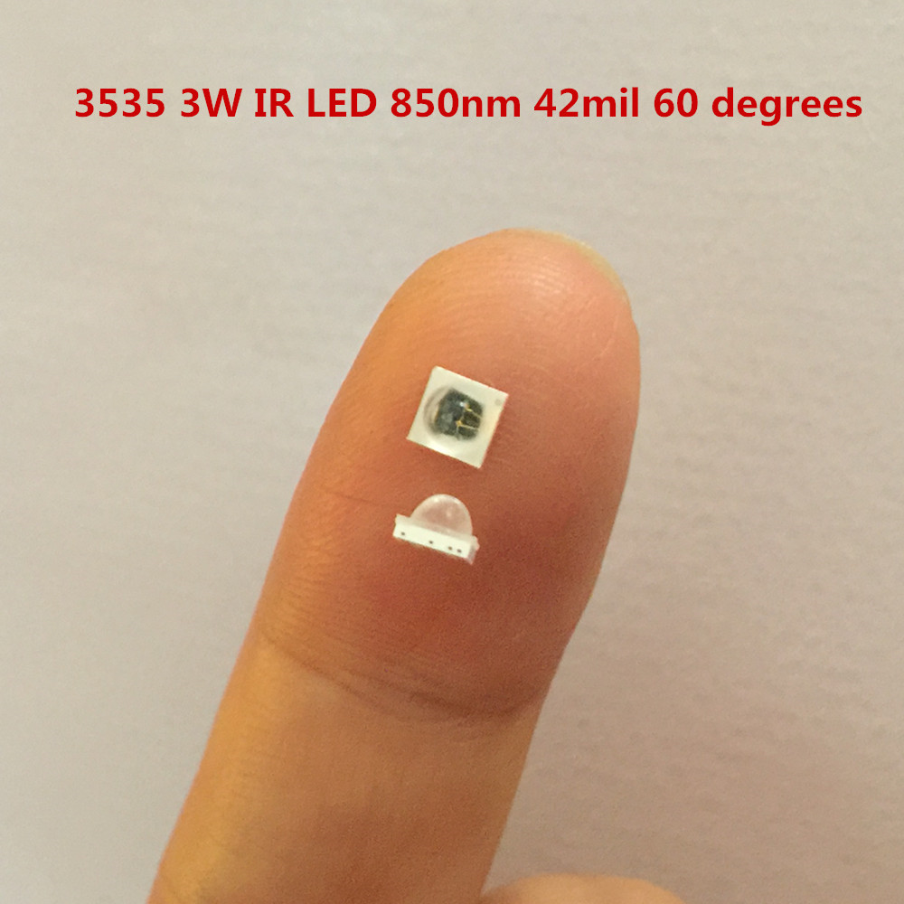 3W 850nm SMD Infrared LED IR LED 42mil Chips Application Security Camera 3535 Aluminum Nitride Ceramic VRAR High Power