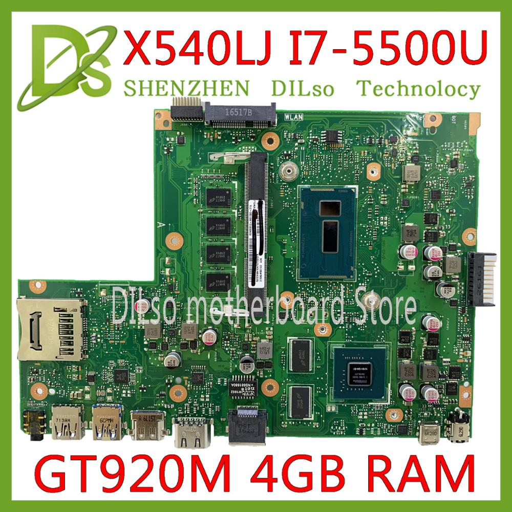 KEFU X540L For <font><b>ASUS</b></font> F540L X540LJ <font><b>X540</b></font> Laptop <font><b>motherboard</b></font> Test before shipping work 100% 4G-RAM I7-5500U GT920M image