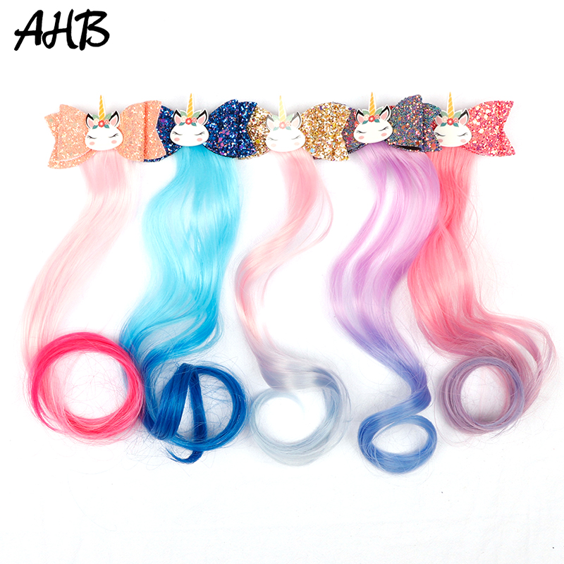 Large Hair Clip Unicorn Bow Hairpin Children Kids Girls Baby Hair Clip Gifts New