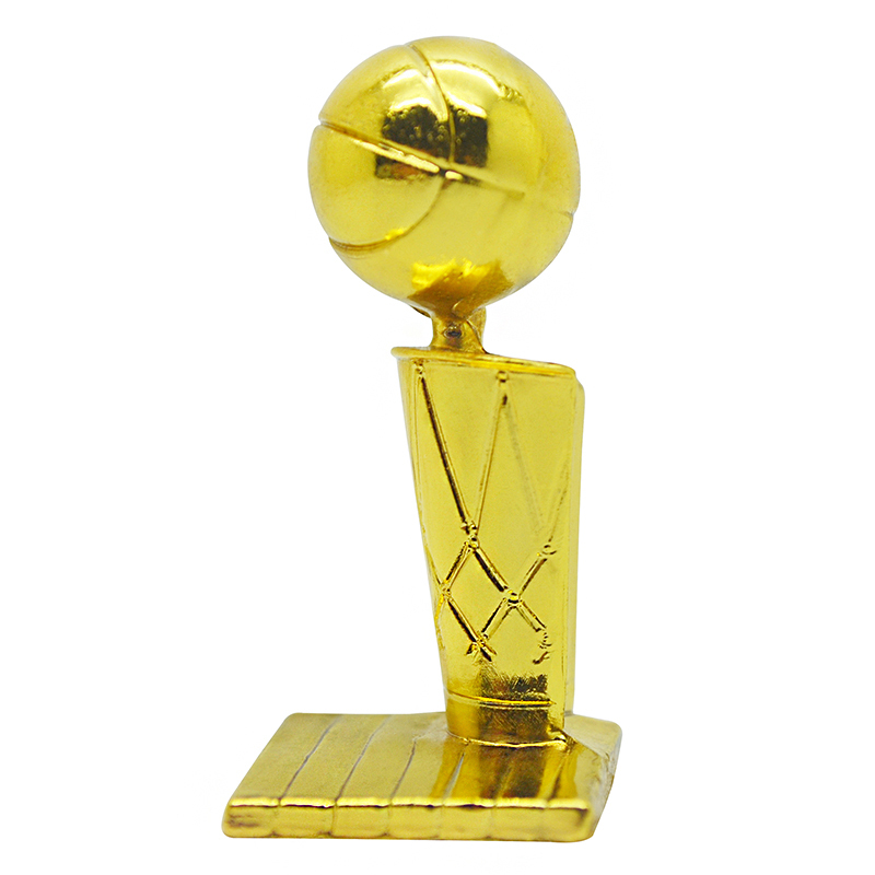 Basketball Match Champion Trophy Model 4.2cm Height Metal Cup Fans Souvenirs Collectibles
