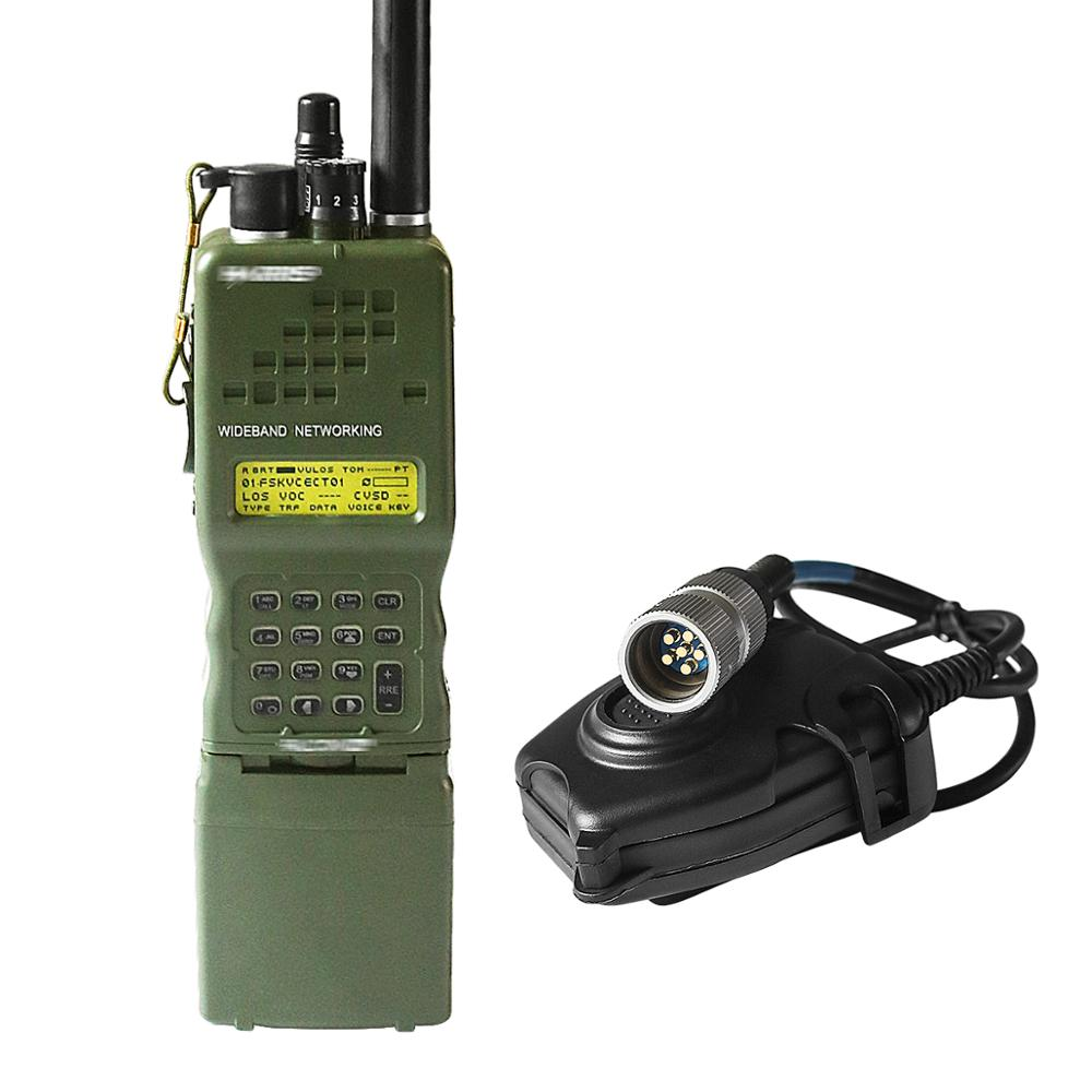 Harris Dummy Radio Case PRC-152 PRC 152 ,Military Talkie-Walkie Model For Baofeng Radio,No Function+With Peltor 6 Pin PTT Plug