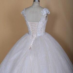 Image 5 - 2020 Nieuwe Luxe Desgin Trouwjurken Korte Mouwen Bruid Dress Custom Made Dubai Trouwjurk Fabriek Direct Baljurk