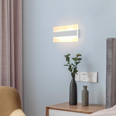 5w quadrado interruptor de luz parede lampadas