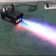 Máquina de fumo sem fio com controle remoto, led 500w, efeito de palco, gerador de fumaça, capuz de palco