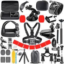 ORBMART conjunto de accesorios para GoPro Hero 9, 8, 7, 6, 5 y 4, montaje negro para Yi 4k, funda Mijia para Cámara de Acción Sjcam