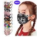 10 шт. рот маски моющиеся детские маска для детей комплект из двух частей с принтом «мороженое шелковая маска рот шапки моющиеся mascarillas