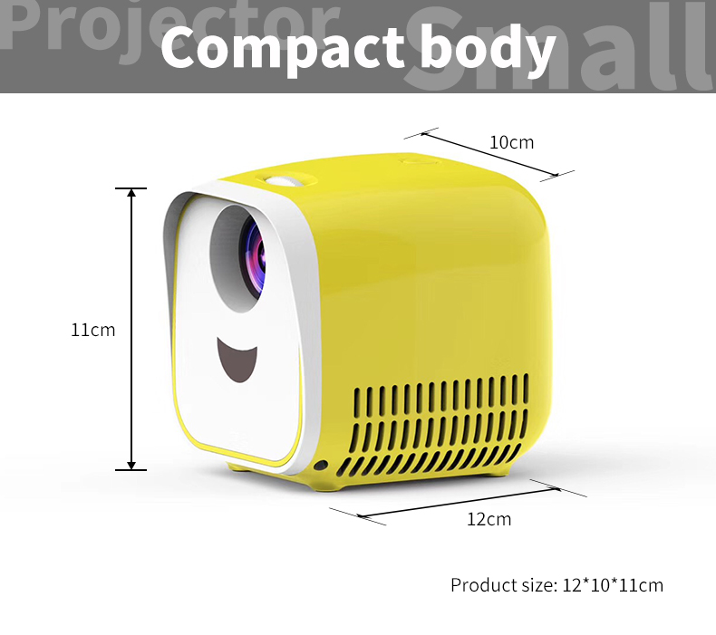 LEJIADA L1 Portable Mini Projector 1000 lumen Support 1080p Full HD Movie Playback Projector Home Theater Entertainment Device