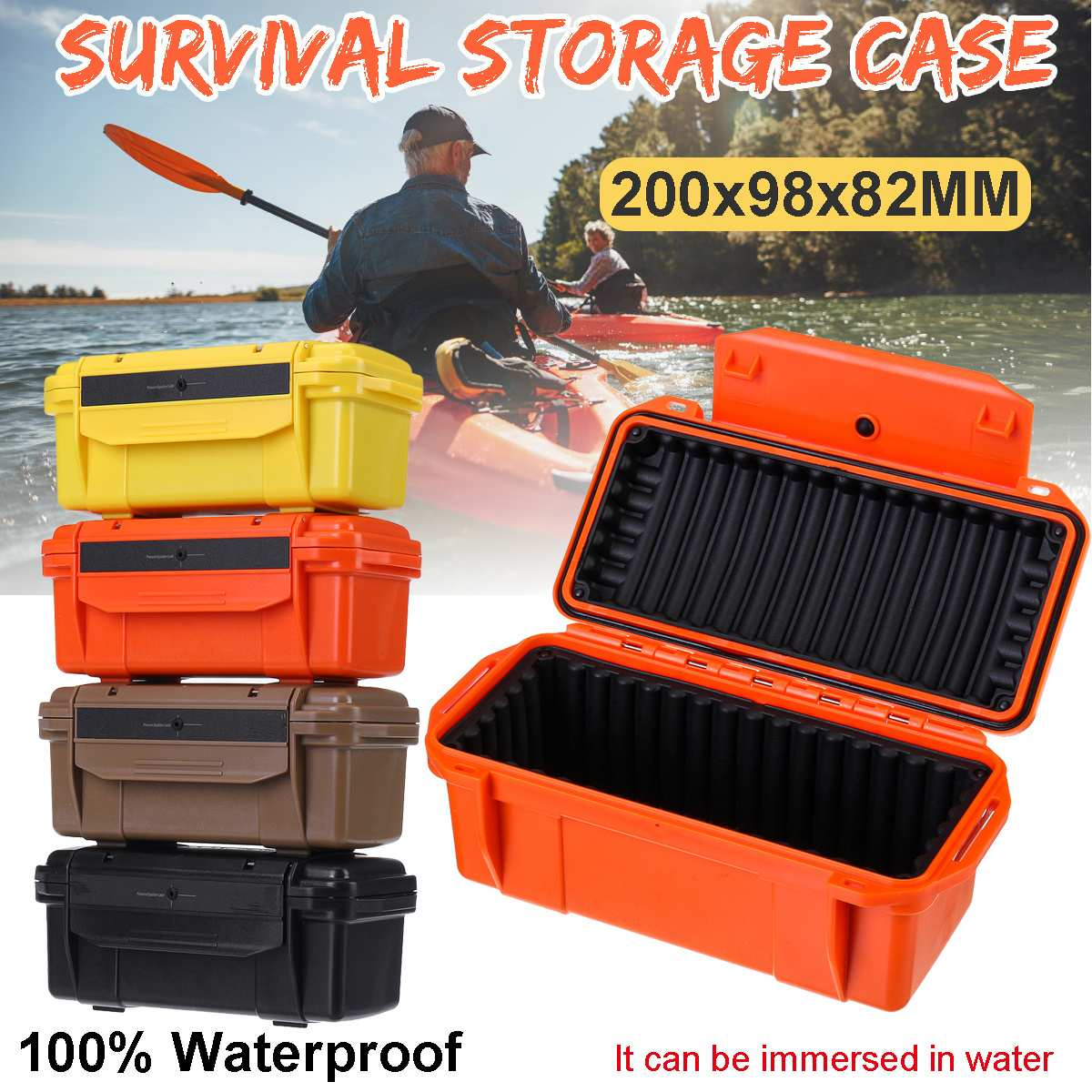 Colorful Outdoor Shockproof Waterproof Boxes Survival Airtight Case Holder Storage Matches Tools Travel Sealed Containers