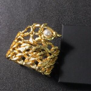 Image 2 - Quente da cor do ouro do vintage faraó egípcio design jóias besouro pulseira grande pulseira manguito quente marca jóias de cobre
