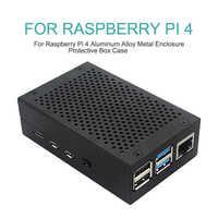 Carcasa de Metal de aleación de aluminio disipadores de calor negro plateado apto para Raspberry Pi 4 carcasa de Metal caja protectora