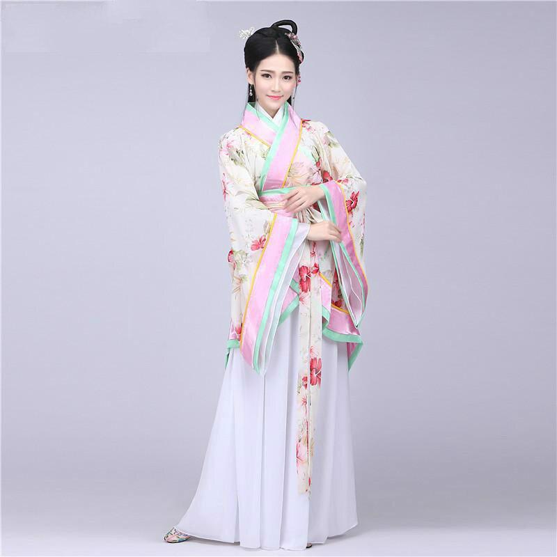 Бренд Salesummer Древний китайский костюм женская одежда халаты Традиционные Красивые Hanfu танцевальные костюмы Sobretudo Feminino платье