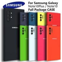 Funda de silicona para Samsung Galaxy Note 10 Plus, carcasa protectora trasera de tacto suave para Note 10 Lite, Note 10 Pro, A81