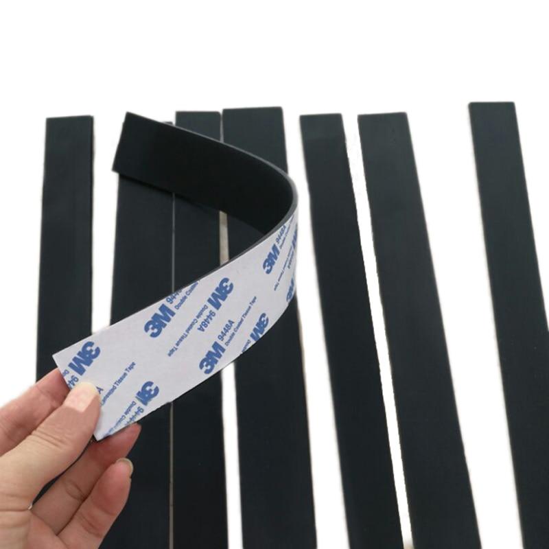 1 шт. черный силиконовый Резиновая полоса самоклеющаяся уплотнительная прокладка 300x1 0/20/30x0.5/1/2/3 мм