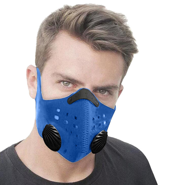 Unisex Breath  PM2.5 Mouth Masks Ear Straps Pollution Respirator Cycling Running Mask+Activated Carbon Filter 2