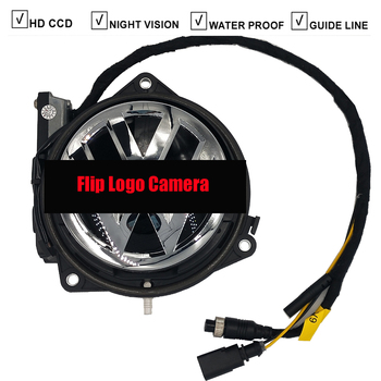 CCD Car Flip Logo Rear View Reversing Camera For VW Volkswagen Magotan Passat CC Golf 5/6 7 MK5 MK6 MK7 Jetta Polo RCA Port