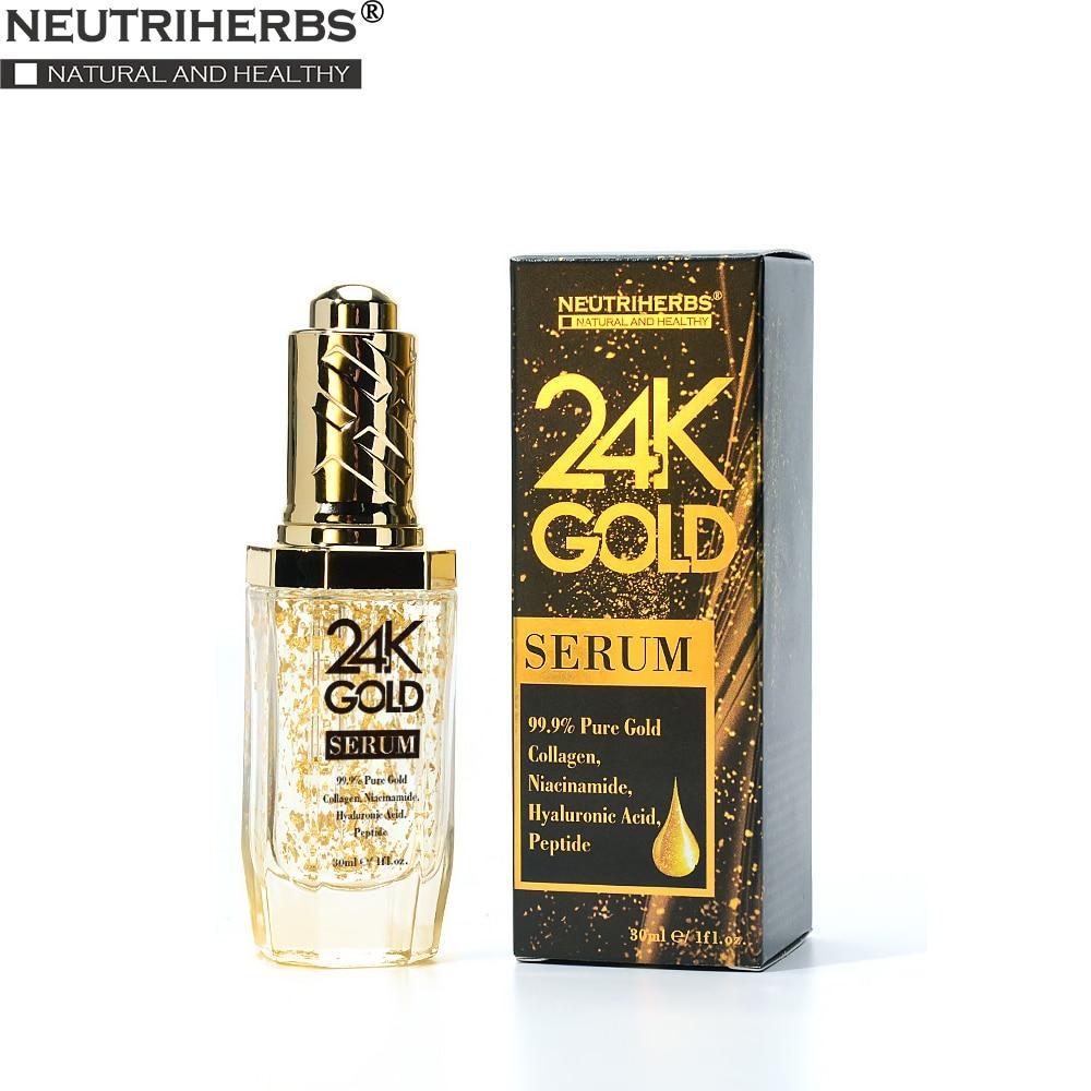 Neutriherbs 24 K Gold Serum Face Serum With Hyaluronic Acid Care Essence Moisturize And Brightening Skin