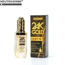 Neutriherbs 24 K Gold Serum Gesicht Serum mit hyaluronsäure Pflege Essenz Befeuchten und Aufhellung Haut