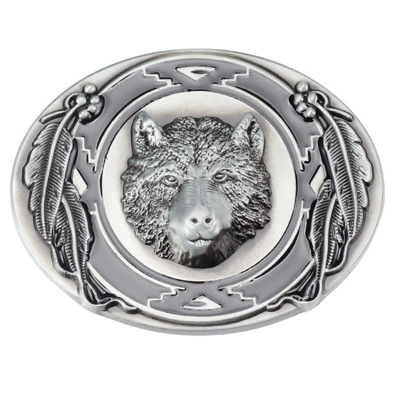 High Quality  Western Cowboy Bear Men's Metal Belt Buckle Fit 3.8cm Wide Belt Jeans Accessories
