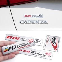 3d alumínio adesivos de carro emblema para kia sportage 3 4 ql rio k2 optima sorento picanto ceed forte cadenza k9 alma estilo do carro