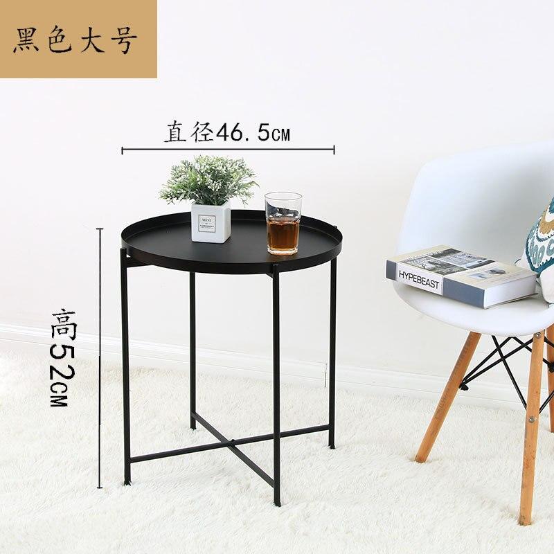 Nordic bedhead recebe pequena mesa de chá o lado do sofá desmontagem mesa dobrável sala de estar móveis mesa de café - 4