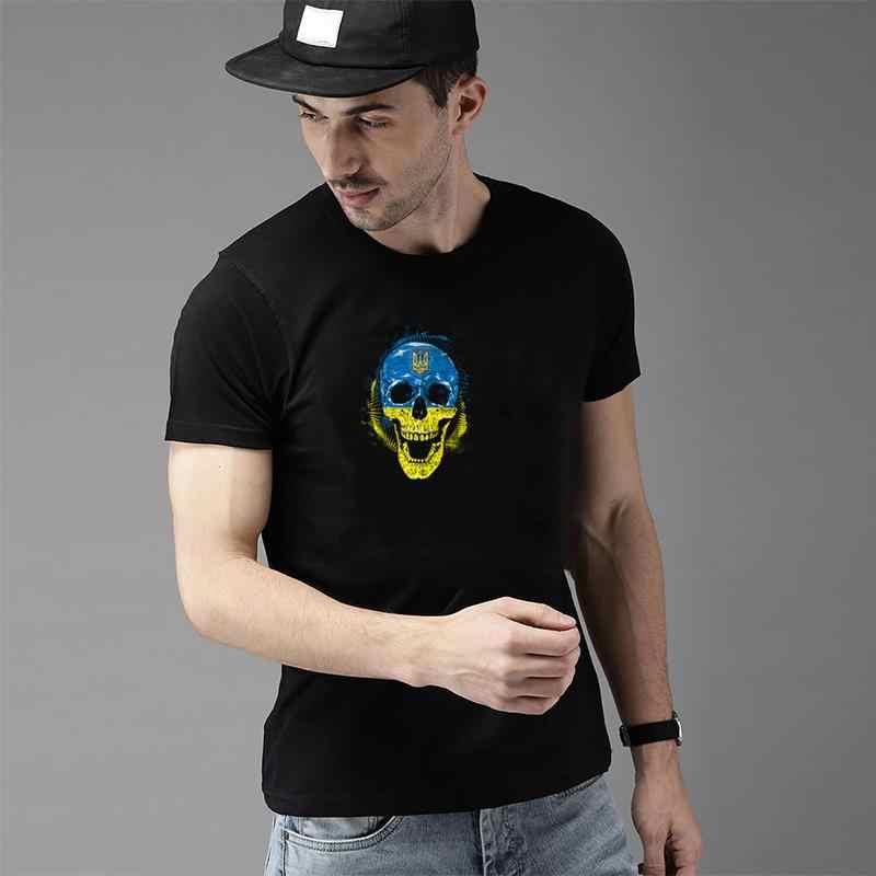 גרפי גולגולת אוקראינה טי חולצה בתוספת גדלים s-16xl הומוריסטי בטיק streetwear נשים טי t חולצות