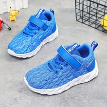 2020 New Unisex Kids Casual Shoes Blue Kids Sport Running Shoes Hook & Loop Children Sneakers Boy Designer School Shoes Girls(China)