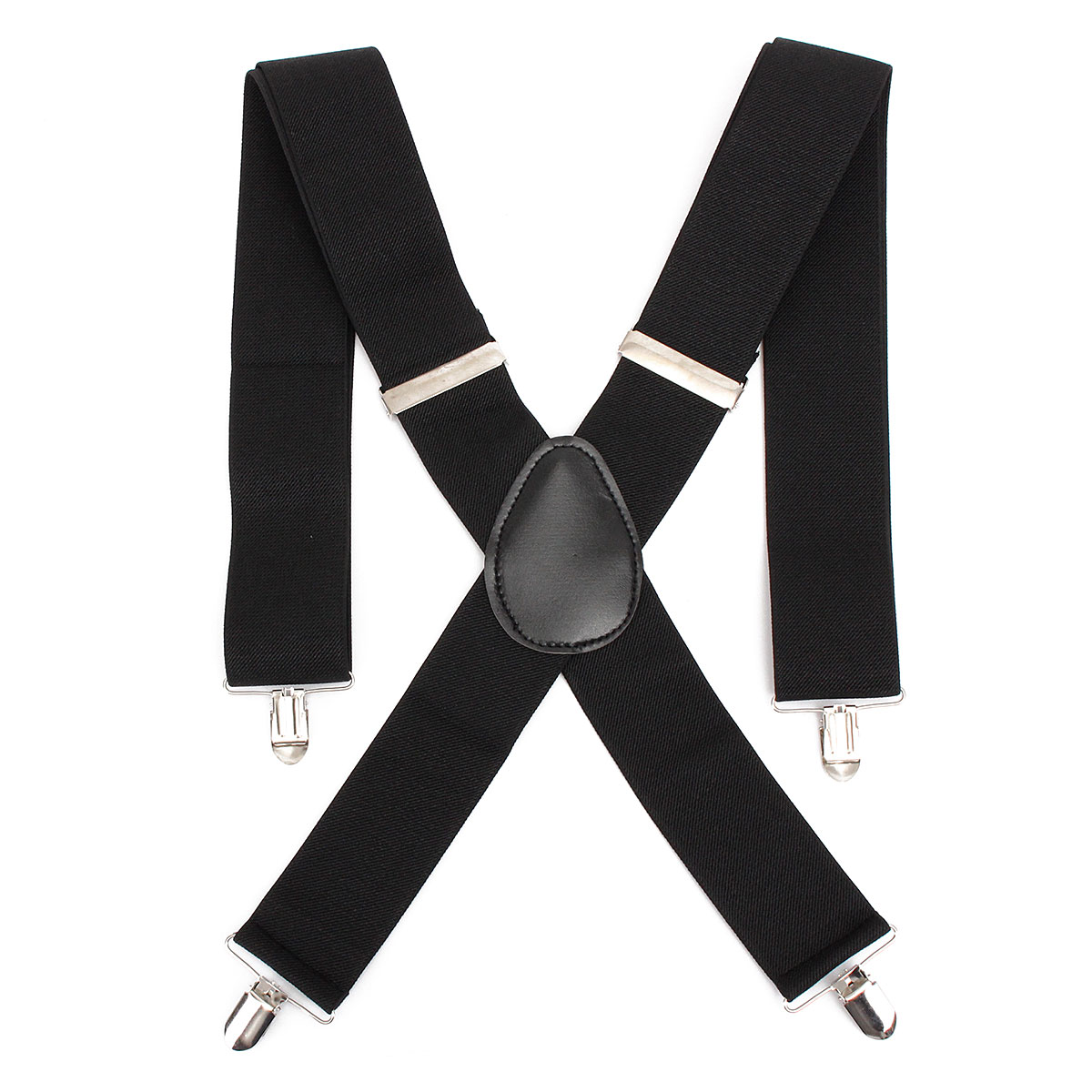 Adjustable Elastic Nylon Leather Men Suspender Straps X Shape Clip-on Men's Suspenders 4 Clip Pants Braces For Male Belt Straps
