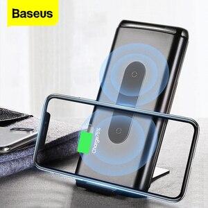 Image 1 - Baseus 10000mAh szybkie ładowanie 3.0 Power Bank przenośna USB C PD szybka bezprzewodowa ładowarka Qi Powerbank dla Xiaomi mi zewnętrzna bateria