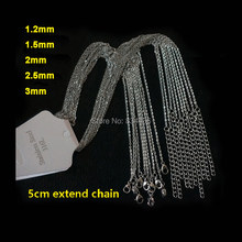 50pcs Good Quality 1.2 1.5 2 3mm Strong Stainless Steel Pendant Necklaces Link Chains Wholesale Women Men's DIY Jewelry Bulk Lot