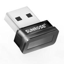 Sunrose usb leitor de impressão digital computador portátil identificação de impressão digital windows olá criptografia para win10
